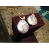 orecchini pietra perla naturale grigia oro argento rosato gancio attacco monachella gioielli artigianali artigiana orafa pietre perle naturali gioiello rosati earring earrings