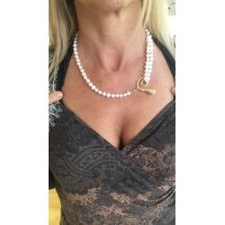 collana perla scaramazza naturale chiusura calla pietra oro argento collane perle scaramazze naturali pietre chiusure calle gioiello gioielli artigianali artigiana orafa pietre